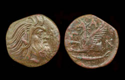 Panticapaeum, Old Satyr and Griffin, 310-303 BC