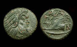 Panticapaeum, Old Satyr and Griffin, 310-310 BC