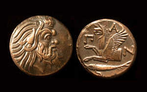 Panticapaeum, Old Satyr & Griffin, 310-303 BC