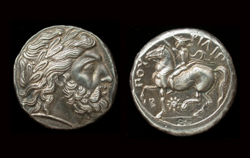 Philip II, Tetradrachm, Greece 359-336 BC, Fine Silver