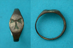 Ring, Byzantine, Ladies, with Tau Cross