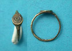 Ring, Roman, Child's with Solar Intaglio, ca. 3rd-4th Cent