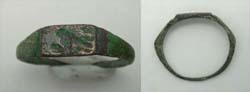 Ring, Roman, Ladies, Crouching Lion Intaglio, ca. 1st Cent