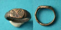 Ring, Medieval, Childs, with Mystic intaglio