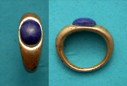 Ring, Roman, Unisex, with Lapis Lazuli Jewel, ca. 3rd-1st Cent BC SOLD!