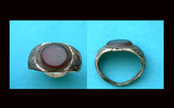 Ring, Roman, Unisex, Silver with Gem, ca. 1st Cent