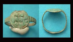 Ring, Crusader-era, Pilgrims, c. 10th-13th Cent.