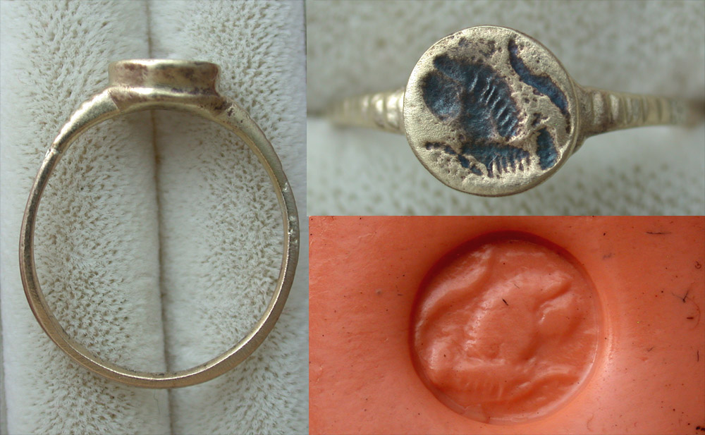Ring, Roman, Men's, Crouching Lion Intaglio, ca. 2nd-3rd Cent