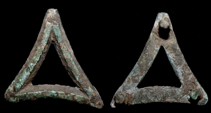 Belt Mount, Triangular, ca. 1st-3rd Cent AD