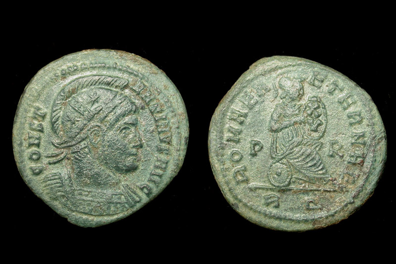 Constantine I, Helmeted, Roma, Rome Mint, Rare R5! Look!