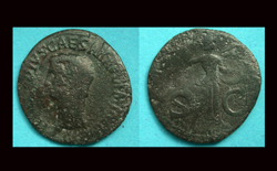 Claudius Æ As, Minerva reverse