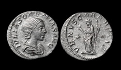 Julia Soaemias (Mother of Elagabalus) AR Denarius, Venus standing reverse