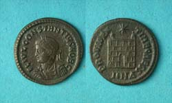 Constantius II, Campgate, Nicomedia Mint, Bust Left!