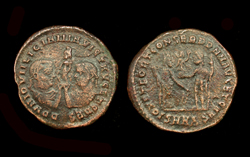 Licinius I and Licinius II, Holding Fortuna obverse, Rare 5