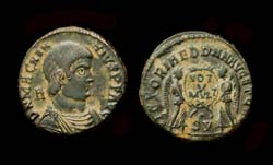 Magnentius, Twin Victories Reverse, Lyon Mint