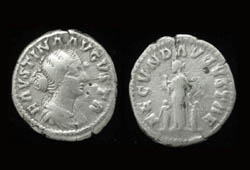 Faustina Junior, Denarius, Fecunditas reverse, Four Children