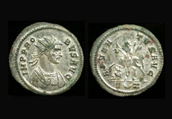 Probus, Silvered Antoninianus, Adventus Issue