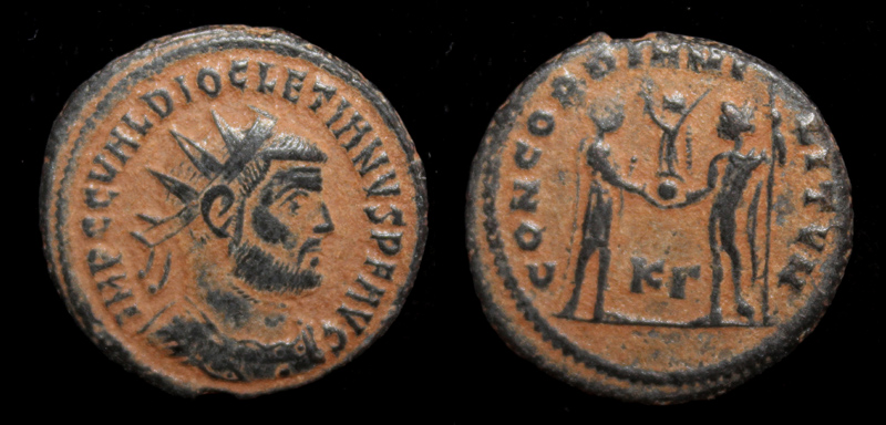 Diocletian, Radiate, Concordia, Cyzicus Mint