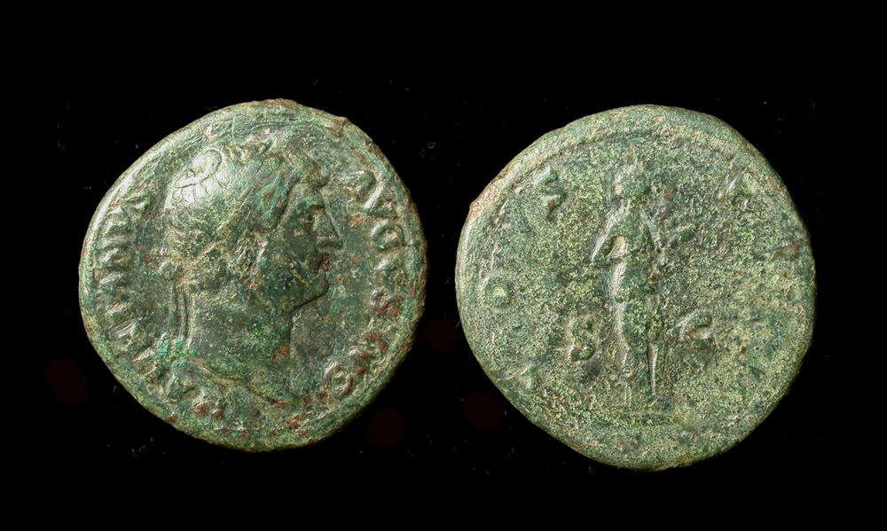 Hadrian Æ As, Roma Reverse