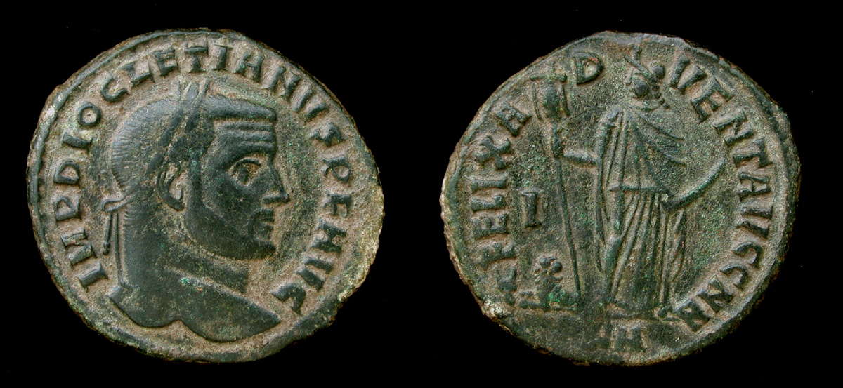 Diocletian, Follis, Felix Advent, Carthage mint