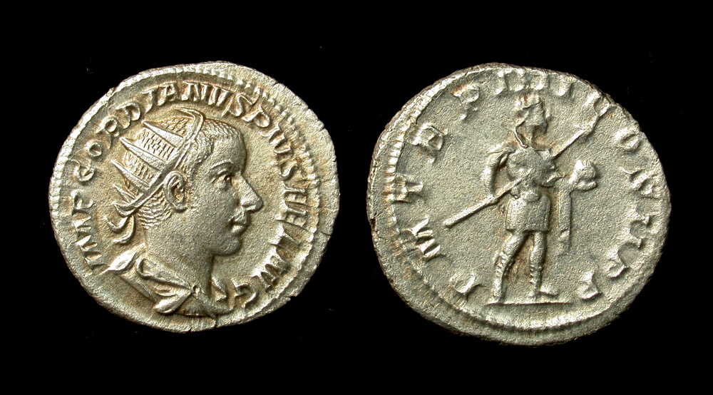 Gordian III, AR Antoninianus, Superb