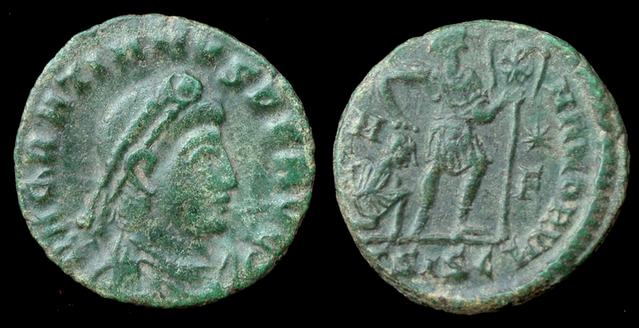 Gratian Æ 3, Gloria of Rome, Siscia Mint