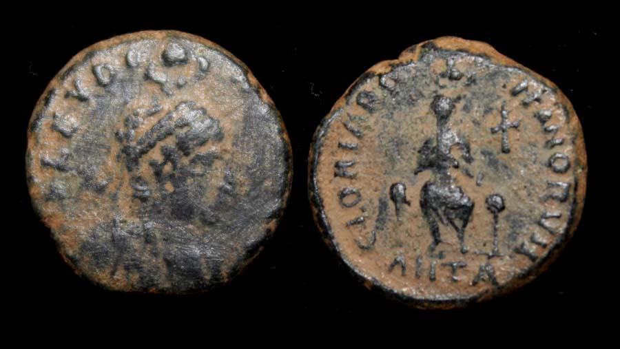 Eudoxia, Wife of Arcadius, 'Hand of God' Issue, Antioch Mint
