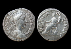 Commodus Denarius, Fortuna, Early Issue