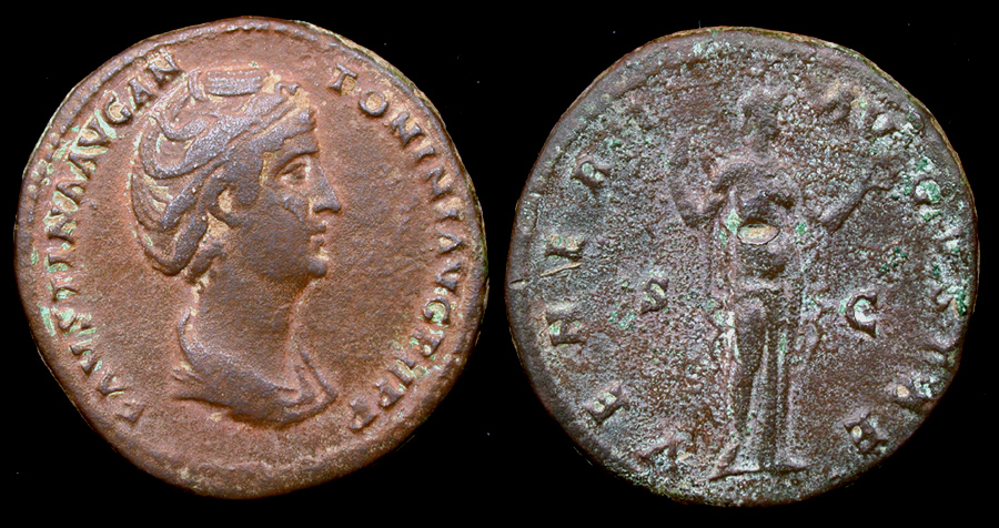 Faustina Senior Sestertius, Wife on Antoninus Pius