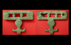 Belt Plate, Openwork with Pelta, c. mid-2nd to mid-3rd Cent, Rare!