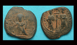 Constantine X, Æ Follis, King & Queen reverse