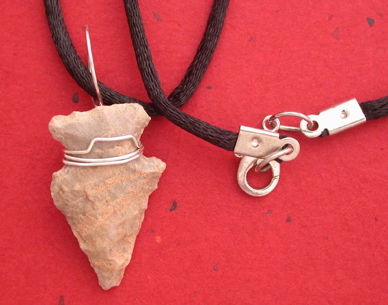 Authentic Flint Arrowhead Necklace