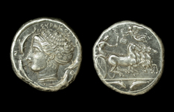 Syracuse, Tetradrachm, Greece circa 410 BC