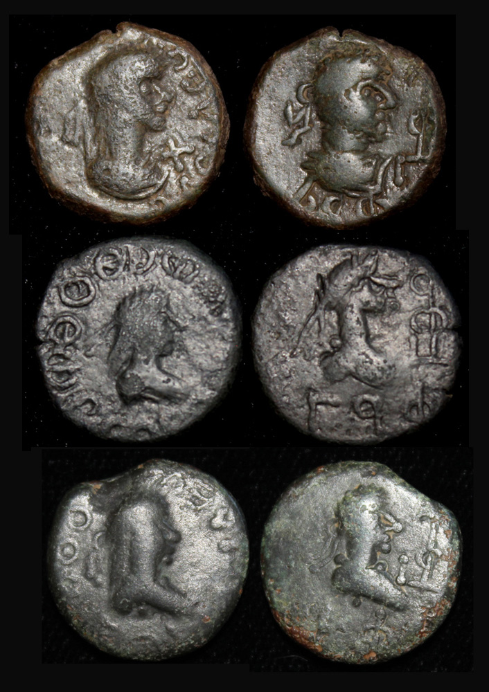 King Thothorses & Diocletian Trio, sequential year dates, 285-28