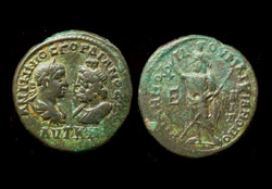 Moesia Inferior, Markianopolis, Gordian III and Serapis, Serapis Reverse