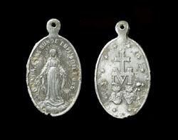 Pendent, Roman Catholic, Germany, Virgin Mary and Monogram, ca. 19th Century