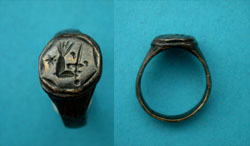 Ring, Medieval, Men's, Sword and Arm, c. 9th-13th Century