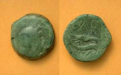 Olbia, Sarmatia city issue, Eagle on Dolphin, c. 400 BC