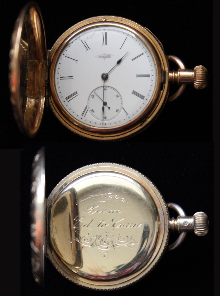Elgin Gold Pocket Watch, 1882, Runs Like New!
